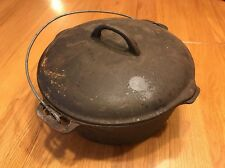 Vintage HEAVY Cast Iron Bean Pot Cowboy Kettle Cauldron Beef Stew 10.83 Lbs