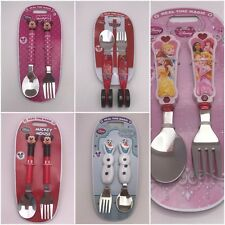Disney Store Fork Spoon Set Minnie Mickey Mouse Cars Olaf Princess Belle Ariel