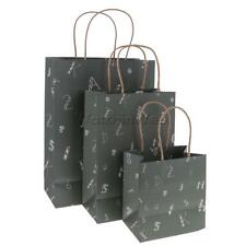 5x Retro Dark Green Alphabets Paper Gift Bag for Birthday Festivals Carrier Bags