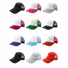 Summer Plain Trucker Mesh Hat Snapback Blank Baseball Cap Adjustable VE