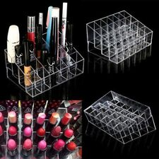 Clear 24 Makeup Cosmetic Lipstick Storage Display Stand Rack Holder Organizer VE