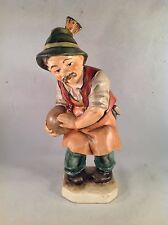 "Friedel Bavaria Hand Painted Bowling Figurine 10-1/2"" Tall"