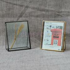 Antique Freestanding Brass Glass Metal Picture Photo Frame Vintage Portrait New