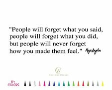 People Forget Made them Feel Maya Angelou Inspirational Wall Quote Vinyl Decal