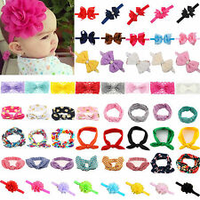 Baby Girls Flower Bow Headband Soft Lace Elastic Band Hairband Hair Accessories