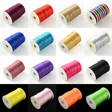 90m/Roll Beading Polyester Cords 2mm Jewelry Stringing Threads Craft Pick Colors