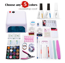 Azure 36W UV/LED Lamp Kits Set Base Top Coat Gel Nail Polish Manicure Nail Art