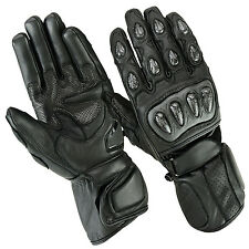 Motorcycle Gloves LEATHER Size S M XL motorcycle gloves Biker black size S-2XL