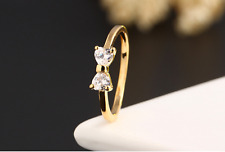 Beautiful *Bow* Gold 1.5 Cts Cubic Zirconia Engagement Wedding Party Ring SZ 6-9