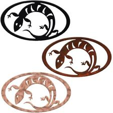 7055 Inc. Southwest Lizard Oval Metal Decor