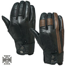 West Coast Choppers Biker Gloves Grunge Riding Glove Motorcycle REAL LEATHER NEW