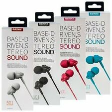 Remax RM-501 Stereo Bass Noise Cancelling In-Ear Earphones Headset With Mic