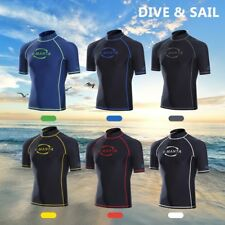 Rash Guard Shirt Quick Drying Short Sleeve UV UPF 50+ Sun Protection for Men