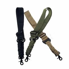 High Quality Single Point Adjustable Bungee Hook Rifle Gun Sling Strap System