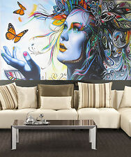 Huge pop Art Painting princess butterfly street queen Abstract Canvas  by Pepe