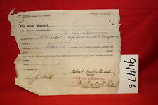 Bill of Sales for 2 Shares of Philadelphia Rapid Tra...