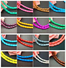 Wholesale 30pcs 6*8mm Cylindrical Jade Glass Spacer Loose Beads Jewelry Making