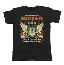 Mens T-Shirt Worlds Greatest GUITAR Dad Except Much Cooler Music Fathers Day