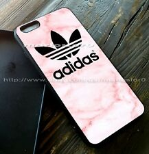 New Adidas Pink Marble For iPhone 7 7 plus Print On Hard Plastic