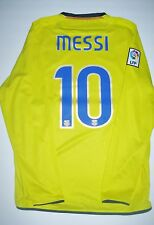 Nike FC Barcelona Lionel Messi Long Sleeve Jersey FCB Argentina Away 2008 2009