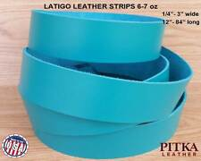 """Jade Latigo Leather Strips - Blank leather Strips up to 84"""" long - craft project"""