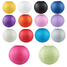 "5pcs Round Paper Lanterns Lamp Shade Wedding Party Decoration 6"" 8"" 10"" 12"" 14"""