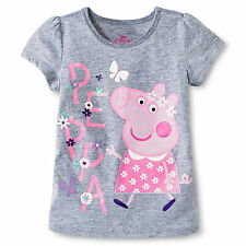 NEW Toddler Girls' Peppa Pig Short Sleeve T-Shirt  Size 4T & 5T
