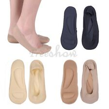 2 Pairs Women Invisible No Show Nonslip Boat Liner Low Cut Silicone Grip Socks