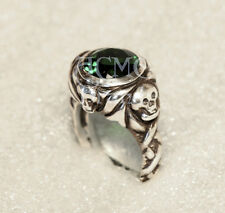 SILVER .925 Johnny's Jack Sparrow Emerald Ring pirates of the caribbean depp