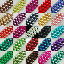 Wholesale 100pcs Top Quality Glass Pearl Round Beads 3mm 4mm 6mm 8mm 10mm 12mm