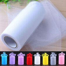 """6""""100 Yd Tulle Fabric Roll Spool Craft Wedding Party Bow Decoration Tutu Gifts"""
