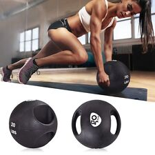 Goplus Dual Grip Medicine Ball Fitness Weighted Workout 6/8/10/12/14/16/20 lbs L