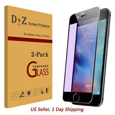 LOT Anti-Blue Light Tempered Glass Film Screen Protector for Apple iPhone 7 Plus