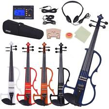 ammoon Full Size 4/4 Solid Wood Electric Silent Violin Fiddle Style Z5Z2