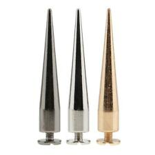 10pcs Metal Bullet Stud Spike Punk Belt Bag Leathercraft Clothes Cone Rivet
