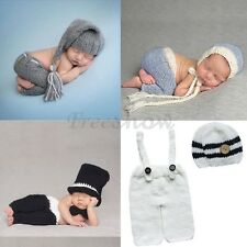 Cute Newborn Baby Prop Outfits Boy Girls Crochet Knit Costume Photo Photography
