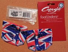 NWT Capezio Foot Undeez Jelz Print Union Jack Print H07GS Dance Lyrical  UNJ