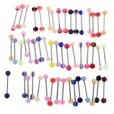 50/60Pcs Wholesale Body Piercing Jewelry Lip Eyebrow Belly Tongue Bar Rings Lot