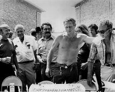 Steve McQueen Sam Peckinpah Bare Chested Candid on Set the Getaway Poster/photo