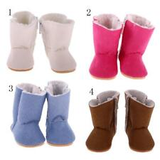 Fashion Zip Snow Boots Flat-heel Shoes for 18inch American Girl Dolls Accessory