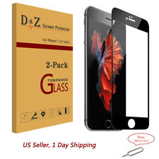 """2Pack For iPhone 7 (4.7"""") 3D Full Coverage Tempered Glass Film Screen Protector"""