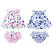 2PCS Newborn Infant Baby Girls Floral Playsuit Romper Pants Bodysuit Outfit Set