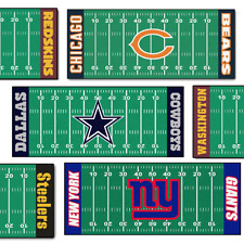 NFL Mat Redskins, Steelers Cowboys, Bears or NY Giants Football Field Rug FANMat