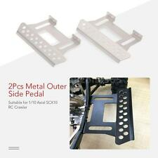 1/10 Rock Crawler Pedal 2Pcs Metal Outer Side Pedal Plate Axial SCX10 USA M3Y0