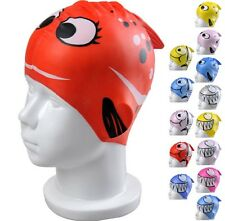 Kids Swim Caps Fun Swimming Hat Fish Nemo Shark Kids Boys Girls Junior Cap Swim