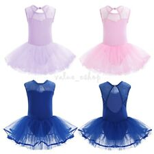 Girls Gymnastic Ballet Leotard Tutu Dress Ballerina Dance Outfit Costume 3-14Yrs