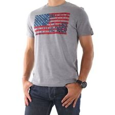 Shirt Tommy Hilfiger T Neck Crew Sleeve Mens Logo Flag New Tee Short S Graphic