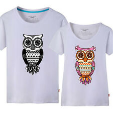 Summer Owl Printed Couple Matching Couple Tee Tops Fashion Short Sleeve T-shirts