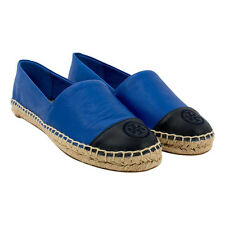 Tory Burch Color-Block Flat Espadrille - Mestico/Silky Veg Shoes Jelly Blue