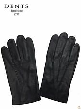 Dents Fine Leather Gloves with Fleece Lining Warm Mens Winter BR225